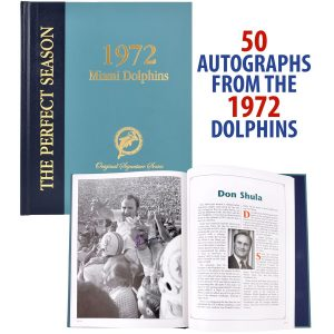 Autographed 1972 Miami Dolphins Fanatics Authentic Coffee Table Book