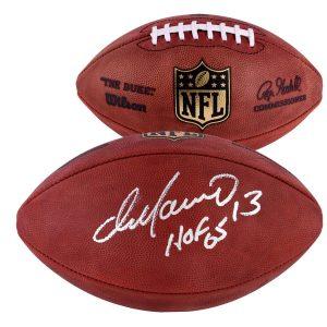 "Autographed Miami Dolphins Dan Marino Fanatics Authentic Football with ""HOF 05"" Inscription"