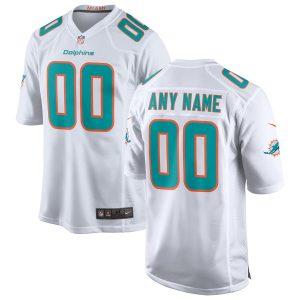 Men's Miami Dolphins Nike White 2018 Custom Game Jersey