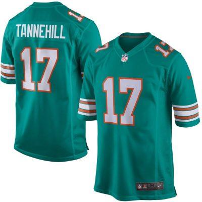Men's Miami Dolphins Ryan Tannehill Nike Aqua Alternate Game Jersey