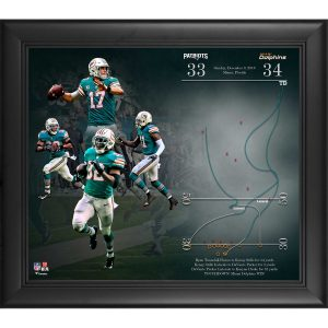 Miami Dolphins Fanatics Authentic Framed 15″ x 17″ Miracle In Miami Collage