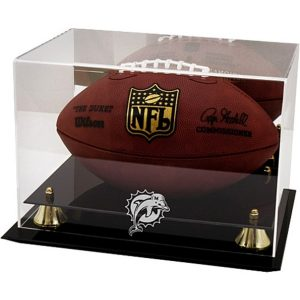 Miami Dolphins Fanatics Authentic Golden Classic Team Logo Football Display Case