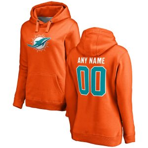 Miami Dolphins Women's Personalized Name & Number Pullover Hoodie