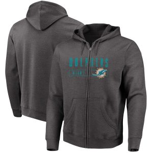 Miami Dolphins Majestic Hyper Stack Full-Zip Hoodie
