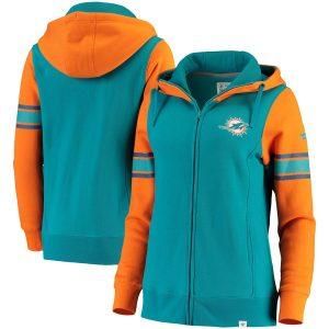 Miami Dolphins Women's Iconic Fleece Full-Zip Hoodie