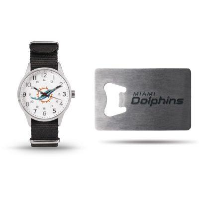 Miami Dolphins Sparo Watch & Bottle Opener Gift Set