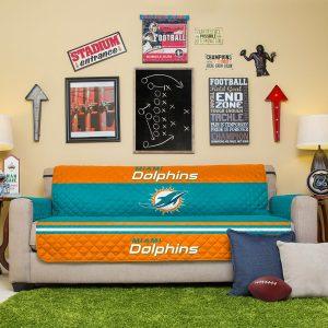 Miami Dolphins Teal Sofa Protector