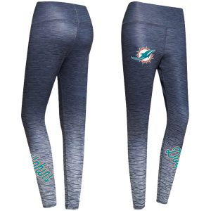 Women's Miami Dolphins Concepts Sport Charcoal Flyaway Knit Sublimated Leggings