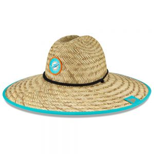 Miami Dolphins New Era 2020 NFL Summer Sideline Official Straw Hat