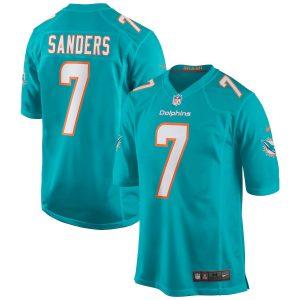 Men's Miami Dolphins Jason Sanders Nike Aqua Game Jersey