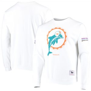 Miami Dolphins Mitchell & Ness Rings VIP Champions Pullover Sweater